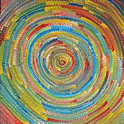 Sale 9098A - Lot 5087 - Bernadine Johnson Kamara (c1974 - ) - Circle 60 x 60 cm (stretched and ready to hang)