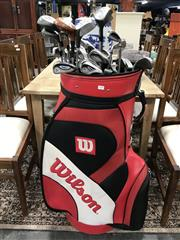 Sale 8889 - Lot 1370 - Oversized Wilson Golf Bag with Clubs
