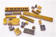 Sale 9035 - Lot 15 - Collection of Wooden Stamp Blocks