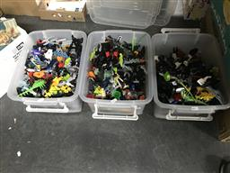 Sale 9101 - Lot 2199 - 3 Tubs of Lego Bionicle Style Bricks/Parts