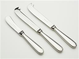 Sale 9123J - Lot 271 - A pair of French Christofle cheese knives with a matching pate knife. Cheese knife L: 20cm