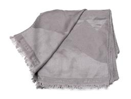 Sale 9253J - Lot 403 - A BALLY GREY SCARF; wool silk blend with jacquard Bally armorial design and fringe edge, size 175 x 45cm, some catches.