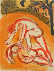 Sale 8011A - Lot 47 - Marc Chagall (1887-1985) - Cain and Abel, 1960 32 x 24.6cm