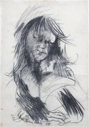 Sale 8410A - Lot 5003 - Anne Hall (1945 - ) - Untitled, 1978 (Seated Figure) 100 x 70.5cm (sheet size)