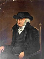 Sale 8442A - Lot 31 - C19th English School - Portrait of an Elderly Man 104 x 79cm