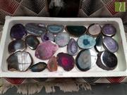 Sale 8480 - Lot 1028 - Tray of Polished Mixed Agate Slices