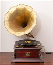 Sale 8774A - Lot 293 - An HMV gramophone with spare needles, total height 64cm
