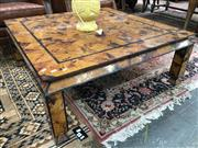 Sale 8882 - Lot 1051 - Art Deco Style Coffee Table, with tortoiseshell finish & on square legs