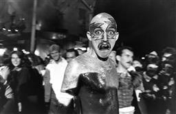 Sale 9082A - Lot 5044 - Glitter Head, Sydney Gay and Lesbian Mardi Gras Parade (1985), 30 x 19.5 cm, silver gelatin, Photographer: unknown