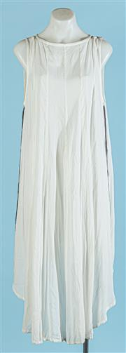 Sale 9090F - Lot 104 - AN ANN DEMEULEMERSTER FLOWY SUMMER DRESS; in cotton with white and black panels, size 14