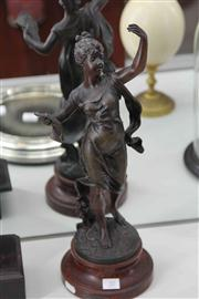 Sale 8032 - Lot 20 - Early French Spelter Figure Allegorical of Music Galathee after Brochon
