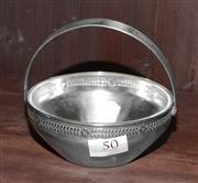 Sale 8098A - Lot 50 - An Art Deco WMF silver plate swing handle berry bowl with separate crystal liner