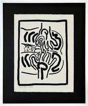 Sale 8349 - Lot 575 - Keith Haring (1958 - 1990) - Bad Boys, 1986 (V) 65 x 50cm