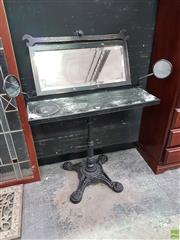 Sale 8611 - Lot 1011 - Royal Enfield Side Mirror Dressing Table on Cast Iron Base