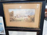 Sale 8699 - Lot 2061 - William Henry Raworth - Near Worthing, watercolour, 23.5 x 44cm, signed lower left