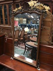 Sale 8882 - Lot 1066 - Rococo Style Carved Timber Mirror, having a shell carved top, with scrolls & to the feet