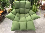 Sale 8967 - Lot 1058 - B&B Italia Husk Lounge Chair by Patricia Urquiola in Green Buttoned Upholstery (Frame Size, H:104 W:65cm)