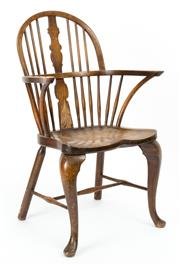 Sale 9015J - Lot 27 - Another Danish ash and beech wood chair C: 1900, a pair to the previous chair having the same back, seat and legs. Ht: 96cm x W: 54c...