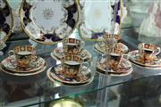 Sale 8032 - Lot 43 - Set of 6 Royal Crown Derby Imari Pattern Trios