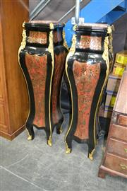 Sale 8093 - Lot 1169 - Marble Topped Pair of French Style Pedestals