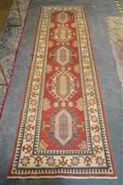 Sale 8103 - Lot 1105 - Afghan Hand Knotted Kazak Runner (290 x 77)