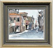 Sale 8281 - Lot 587 - Cedric Emanuel (1906 - 1995) - Chogia - Italy 19 x 16.5cm