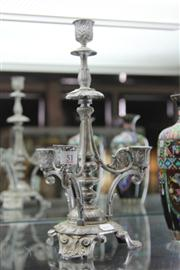 Sale 8276 - Lot 51 - Sheffield Plate Candelabra