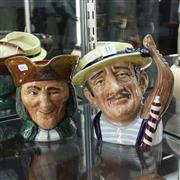 Sale 8351 - Lot 11 - Royal Doulton Character Jugs The Gondolier & The Vicay of Bray