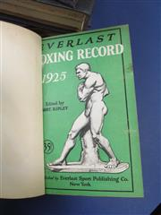 Sale 8419A - Lot 20 - Everlast Boxing Records - a complete bound set (4) from 1925-1935 including covers, in good order