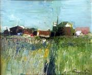 Sale 8442A - Lot 32 - John Tiplady (1938 - ) - Landscape with Farmhouse, 1974 49.5 x 59.5cm