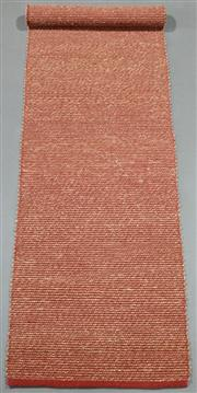 Sale 8438K - Lot 118 - Tuscan Red Woven Seagrass Runner | 300x75cm, Seagrass Pile & Strong Cotton Binding, Hand-woven in Jaipur, Rajasthan. Hand woven by s...