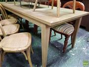 Sale 8545 - Lot 1037 - Recycled American Oak Parquetry Dining Table