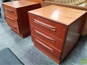 Sale 8493 - Lot 1067 - Pair of G-Plan Teak Bedside Chests