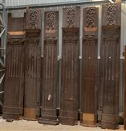 Sale 8677A - Lot 70 - Seven antique wall panels, each approx H 295, some W 39 cm, some W 46cm