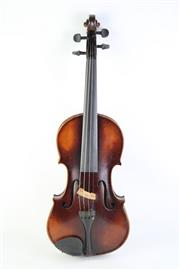 Sale 8823M - Lot 44 - A Cased Violin With 2 Bows