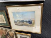 Sale 8874 - Lot 2047 - Alan Runagall - Low Tide at Leigh 1984, 42 x 51cm watercolour, signed lower left