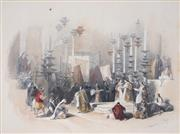 Sale 8914 - Lot 2053 - David Roberts (1796 - 1864) The Stone of Unction, Holy Sepulchre, Jerusalem 1843 hand-coloured lithograph, 19x24cm. -