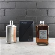 Sale 9088W - Lot 91 - Nikka Whisky From the Barrel Blended Japanese Whisky - 51% ABV, 500ml in box with branded hip-flask