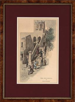 Sale 9256A - Lot 5107 - FREDERIC SCHELL (1838-1902) - From Wooloomooloo to Darlinghurst, 1886 lithograph 23 x13 cm (frame: 35.5 x 26 x 3 cm)