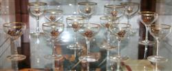Sale 7917 - Lot 37 - Hand Painted Glass Suite