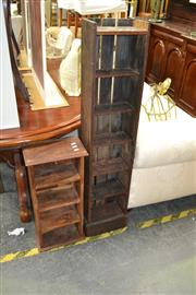 Sale 8093 - Lot 1166 - Two Timber Rustic Open Book Shelves