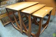 Sale 8326 - Lot 1063 - G-Plan Teak Nest of Three Tables