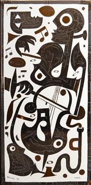 Sale 8316 - Lot 543 - Bernard Hesling (1905 - 1987) - Trio, 1974 84 x 41cm