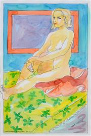 Sale 8434A - Lot 5098 - Christabel Blackman (1959 - ) - Seated Nude, 2013 41 x 28cm