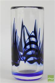 Sale 8516 - Lot 79 - Orrefors Signed Studio Glass Vase by Olle Alberius