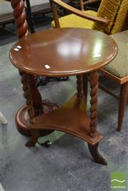 Sale 8500 - Lot 1291 - Timber Side Table with Barley Twist Supports