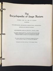 Sale 8539M - Lot 197 - The Encyclopedia of Stage Illusions by Burling Volta Hull, 1962