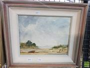 Sale 8548 - Lot 2140 - S. Sefton, Summer on the Lagoon, Oil, signed, 20x25cm