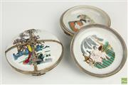 Sale 8563 - Lot 256 - Pair of Chinese Erotic Lidded Dishes