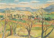 Sale 8583 - Lot 561 - Justin OBrien (1917 - 1996) - Untitled (Landscape) 33.5 x 46.5cm